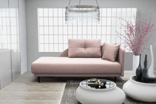 Lenoška ize s úložným prostorem, pravá strana, růžová