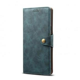 Lenuo Leather flipové pouzdro na Apple iPhone 11 Pro, blue