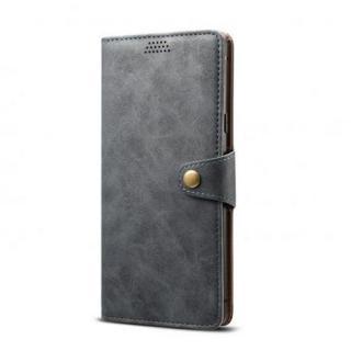Lenuo Leather flipové pouzdro na Apple iPhone 11 Pro, dark grey