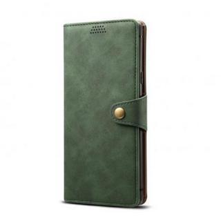 Lenuo Leather flipové pouzdro na Apple iPhone 11 Pro, green