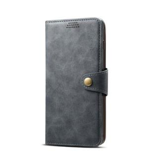 Lenuo Leather flipové pouzdro na Huawei P30 lite, dark grey