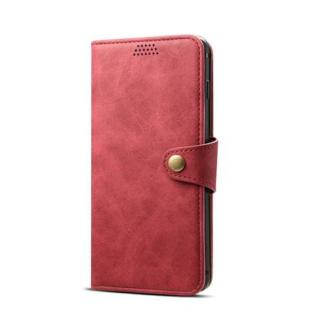 Lenuo Leather flipové pouzdro na Huawei P30 lite, red