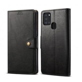 Lenuo Leather flipové pouzdro pro Samsung Galaxy A31, black