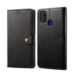 Lenuo Leather flipové pouzdro pro Samsung Galaxy M21, black