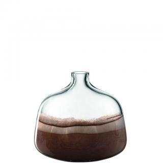 Leonardo VÁZA, sklo, 24,50 cm - hnědá, béžová, průhledné /24,5