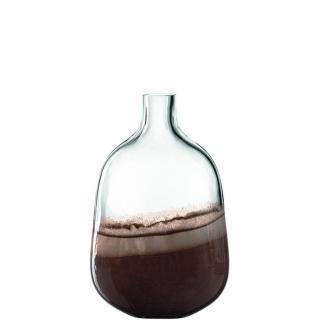 Leonardo VÁZA, sklo, 33,5 cm - hnědá, béžová, průhledné /33,5