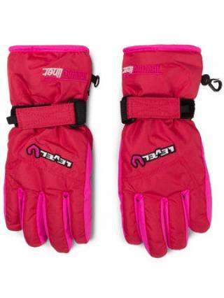 Level Lyžařské rukavice Glove Junior 4152JG.30 Růžová dámské 4_5