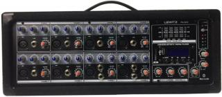 LEWITZ 8 Channel Bluetooth Powered Pro Audio Mixer