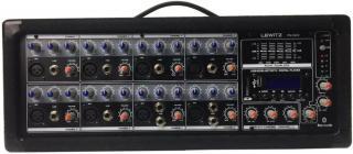 LEWITZ 8 Channel Bluetooth Powered Pro Audio Mixer