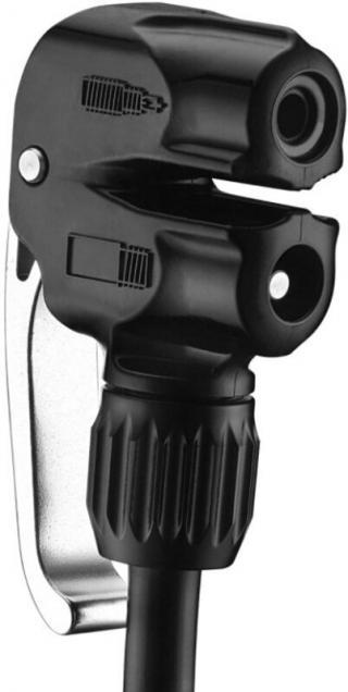 Lezyne Dual Valve Pump Head Black
