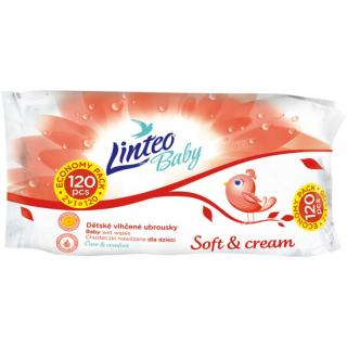 Linteo Baby Soft & Cream dětské jemné vlhčené ubrousky 120 ks 120 ks