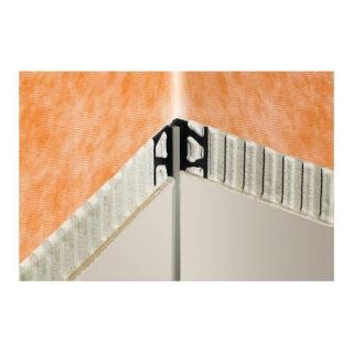 Lišta rohová vnitřní PVC šedá, délka 250 cm, výška 8 mm, EKEU8/O7PG šedá šedá
