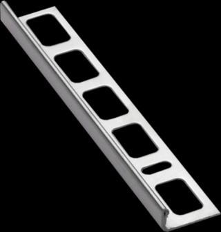 Lišta ukončovací L nerez kartáčovaná, délka 250 cm, výška 10 mm, NRZK10250