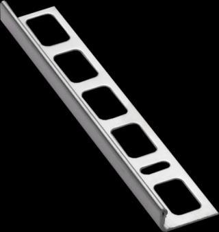 Lišta ukončovací L nerez kartáčovaná, délka 250 cm, výška 8 mm, NRZK8250