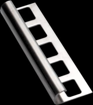 Lišta ukončovací oblá nerez, délka 250 cm, výška 10 mm, NRZO10250