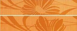 Listela Fineza Via veneto arancio 5x25 cm mat WLAGE062.1 oranžová arancio