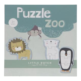 LITTLE DUTCH Puzzle zoo mix barev