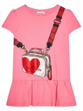 Little Marc Jacobs Každodenní šaty W12362 M Růžová Regular Fit dámské 4Y