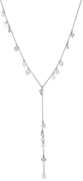Liu.Jo Ocelový náhrdelník se srdíčky a hvězdičkami LJ1408