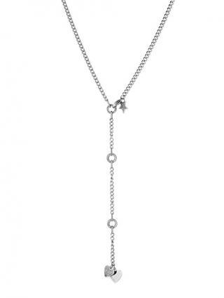 Liu.Jo Ocelový náhrdelník se srdíčky a hvězdičkou LJ1386