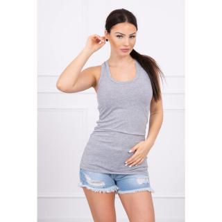 Long strappy top blouse gray dámské Neurčeno One size