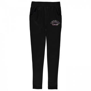 Lonsdale Open Hem Jogging Bottoms Junior Girls dámské Black | Other M