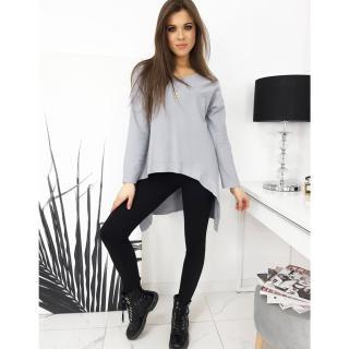 LOOK womens blouse gray RY0621 dámské Neurčeno One size