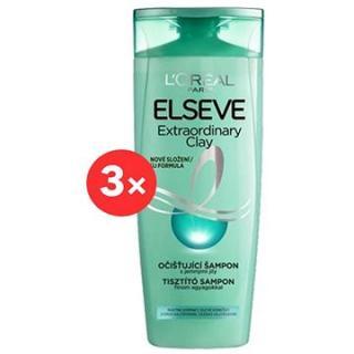 ĽORÉAL PARIS Elseve Extraordinary Clay Shampoo 3 × 400 ml