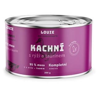 LOUIE Kompl. krmivo pro kočky - kachní  a taurinem 200 g