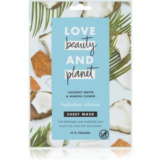 Love Beauty & Planet Hydration Infusion Coconut Water & Mimosa Flower plátýnková maska s hydratačním účinkem 21 ml dámské 21 ml
