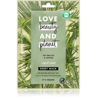 Love Beauty & Planet Rapid Reset Tea Tree Oil & Vetiver osvěžující maska 21 ml dámské 21 ml