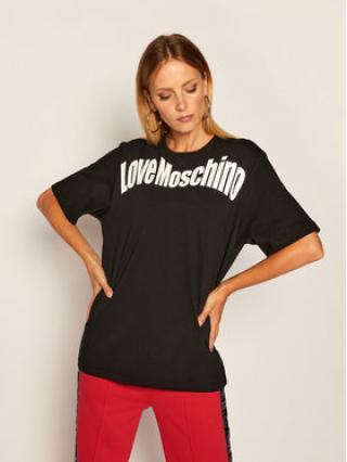 LOVE MOSCHINO T-Shirt W4F8736M 3876 Černá Oversize dámské 40