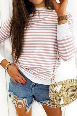 LOVELY MORENO womens sweatshirt pink BY0369 dámské Neurčeno One size