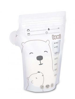 LOVI Sáčky k uchovávání odsátého mléka 25 ks Buddy Bear bílá