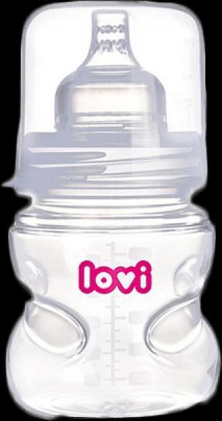 LOVI Samosterilizující láhev 150 ml 0% BPA super vent bílá