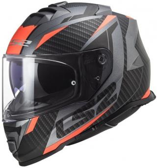 LS2 FF800 Storm Racer Matt Titanium Fluo Orange XL pánské Black XL