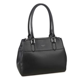 LUIGISANTO Black eco-leather handbag dámské Neurčeno One size