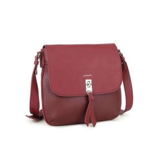 LUIGISANTO Burgundy messenger bag dámské Neurčeno One size