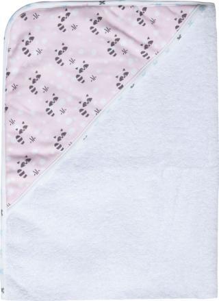 LUMA Dětská froté osuška s kapucí - Racoon Pink růžová