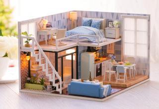 Luxusní dřevěný domeček pro panenky Varianta: 1
