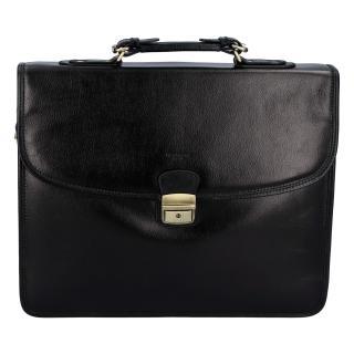 Luxusní pánská kožená aktovka černá - Hexagona Ruperto pánské