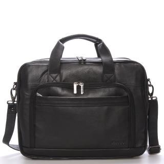 Luxusní pánská kožená taška přes rameno černá - Bellugio Lance pánské