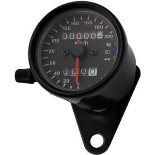 M-Style Mechanický analogový tachometr  na motocykl retro 200 černý