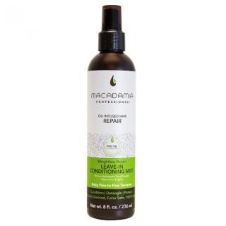 Macadamia Hydratační mlha pro nepoddajné a krepaté vlasy Weightless Repair  236 ml dámské