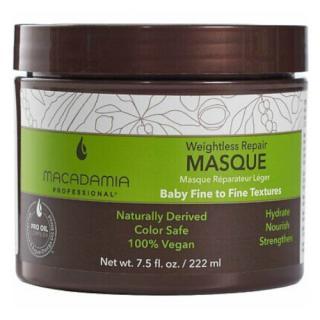 Macadamia Obnovující maska pro všechny typy vlasů Weightless Repair  222 ml dámské