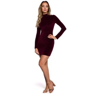 Made Of Emotion Womans Dress M558 Maroon dámské Red S