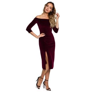 Made Of Emotion Womans Dress M559 Maroon dámské Red XXL