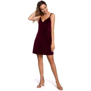 Made Of Emotion Womans Dress M560 Maroon dámské Red L