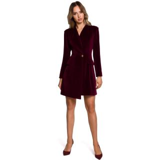 Made Of Emotion Womans Dress M562 Maroon dámské Red XL