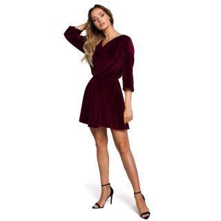 Made Of Emotion Womans Dress M564 Maroon dámské Red XXL